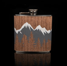Load image into Gallery viewer, Mountain Stainless Steel Hip 6 oz Flask