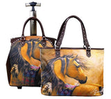 (MW03L4-6) Western Horse Art 2-Piece Luggage Set