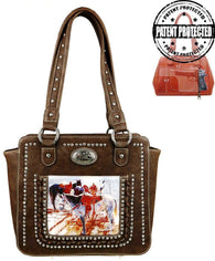 Montana West Horse Art Concealed Handgun Tote  - Coffee