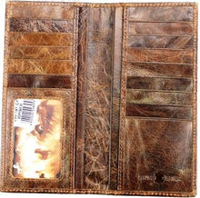 "Load image into Gallery viewer, (MWLW192CF) ""Longhorn"" Western Rodeo Wallet - Coffee"