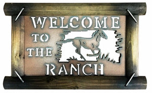 Farm Sign Horse Sign Farmhouse Decor Metal Sign Welcome To The Ranch Sign