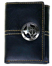 Load image into Gallery viewer, Western Tri-Fold Wallet with Texas & Cross Logo - 3 Colors Available!