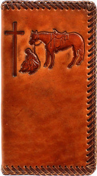 Praying Cowboy Leather Rodeo Wallet