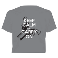 """Keep Calm and Carry On"" Western No Bull T-Shirt"