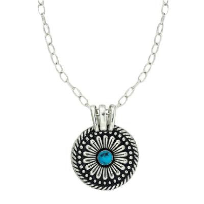 Western Necklace Ladies' Mesa Flower Turquoise