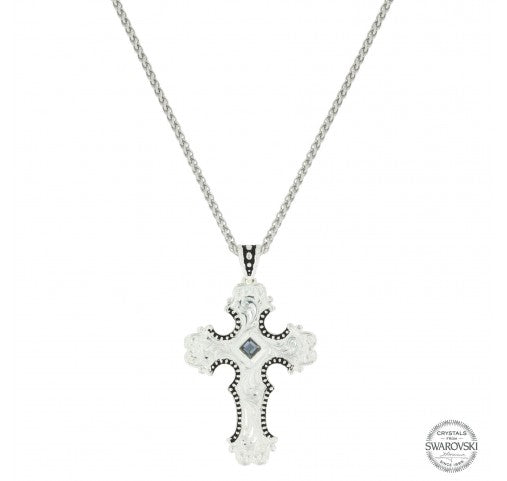 Western Silhouette Cross Necklace