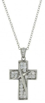 Western Ribboned Cross Necklace