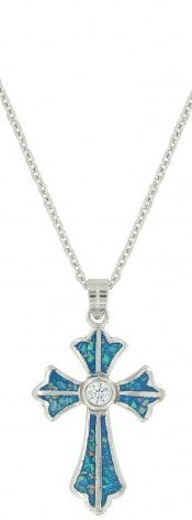 River of Lights Pond of Faith Cross Necklace
