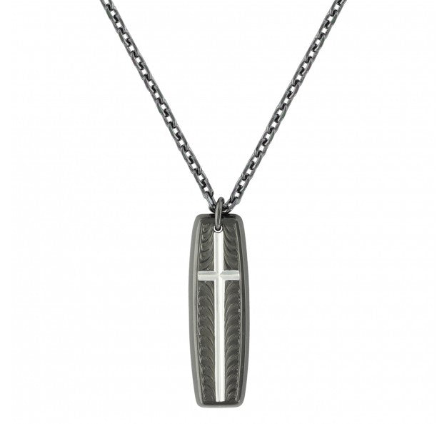 Men's Western Night's Shield of Faith Cross Necklace