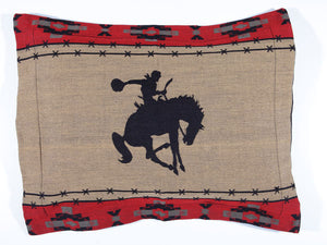Bronco Bustin' Queen  Pillow Sham