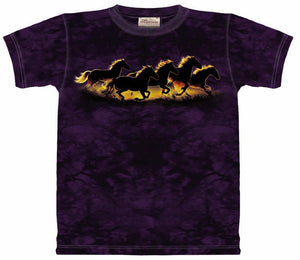 "(OLC10-2039) ""Silhouette Sunset Gallop"" Adult T-Shirt (Large Only)"
