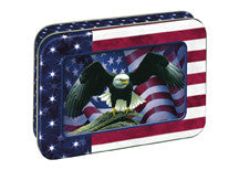 "(OLC17585) ""Patriotic Eagle"" Card Set with Collectible Tin"