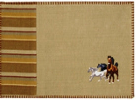 "(OLC17712) ""Pony Pasture"" Western Placemat"