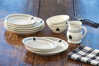 "(PD300-650-52-55-60) ""Country Star"" 16-Piece Dinnerware Set"