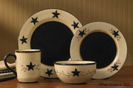 "(PD307-650-652-655-660) ""Star Vine"" Western 16-Piece Dinnerware Set"