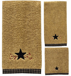 "(PD307-80-81-82) ""Star Vine"" Western 3-Piece Bath Towel Set"