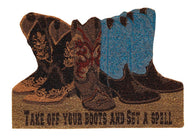 "(PD481-27) ""Take off Your Boots"" Western Doormat"