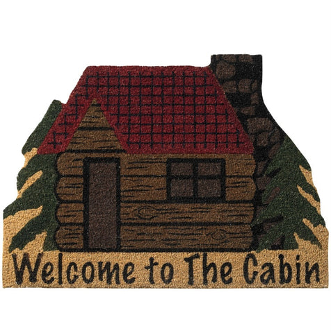 "(PD675-27) ""Welcome to the Cabin"" Doormat"