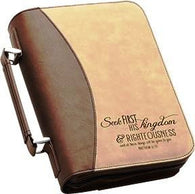 "(PGD-BBX03) ""Seek First His Kingdom"" Bible Cover"