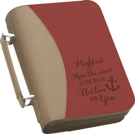 "(PGD-BBX05) ""Mightier Than the Sea is His Love For You"" Bible Cover"