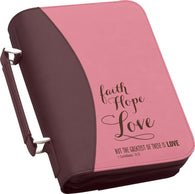"(PGD-BBX08) ""Faith, Hope, Love"" Bible Cover"