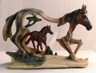 (PS6999) Western Brown Horse in Horse Sculpture