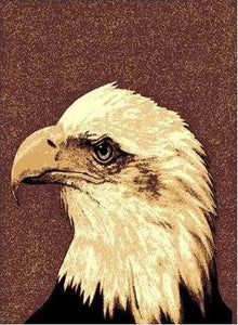 "PW-AFEH) ""Eagle Head"" Rustic Northwoods Area Rug (5' 1-1/2"" x 6' 10"")"