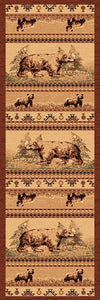 "(PW-LODGE364-2x7) ""Bear"" Cabin Rug - 2 x 7"