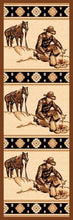 "Load image into Gallery viewer, ""Campfire'"" Western Area Area Rug  (5 Sizes Available)"