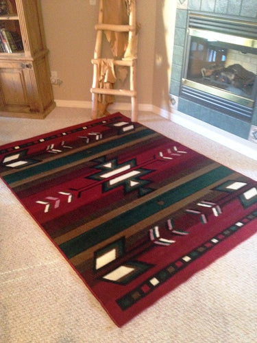 (PW-SW1RED-2x3) Southwest-2 Area Rug Red - 2 x 3