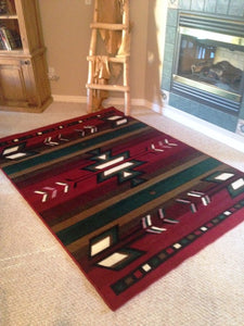 "(PW-SW1RED-2x7) ""Southwest-2 Red"" Area Rug - 2 x 7"