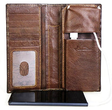 Load image into Gallery viewer, Genuine Tooled & Basketweave Leather Phone Charging Wallet
