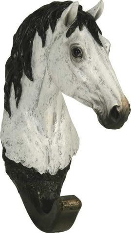 "(RE1269) ""Grey Horse"" Western Wall Hook"