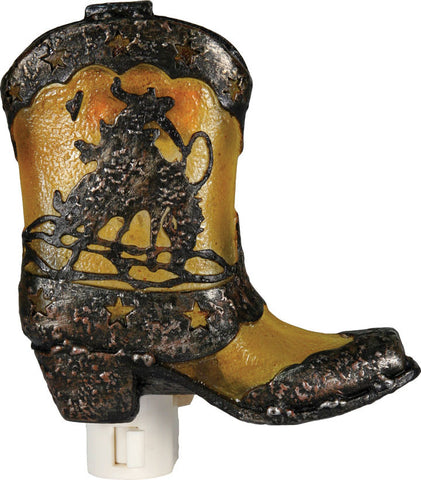 (RE1278) Cowboy Boot 3D Night Light