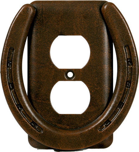 (RE1297) Metal Horseshoe Outlet Cover Plate