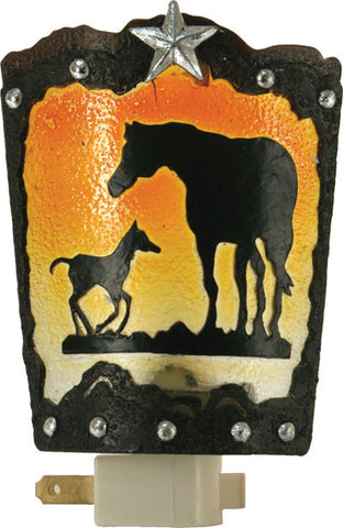 (RE1318) Western Mare and Foal Night Light