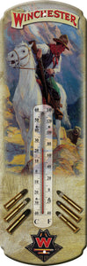 "(RE1345) ""Winchester Horse"" Large Tin Thermometer"