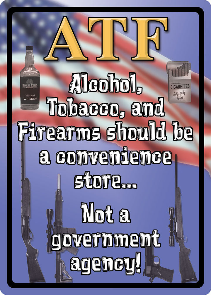 (RE1517) ATF Tin Sign