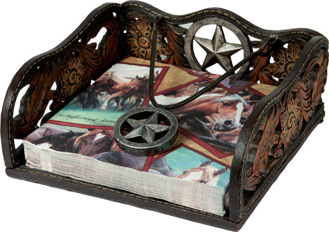(RE1651) Western Star Napkin Holder