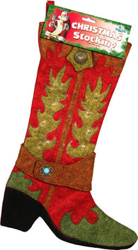 (RE1728) Cowboy Boot Christmas Stocking