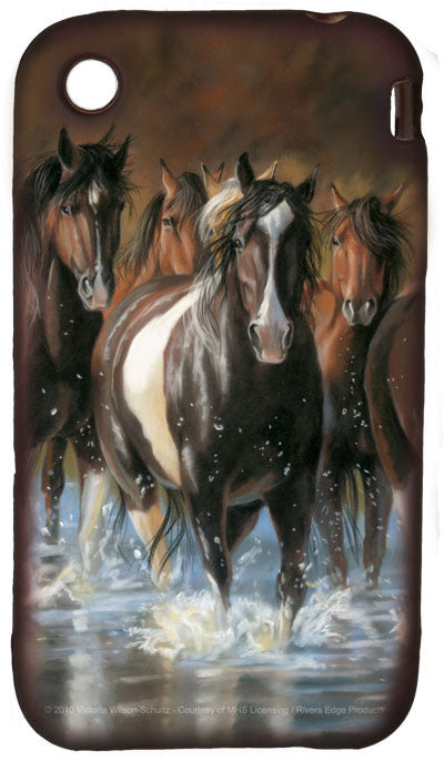 (RE1916) Horses iPhone 4 Cell Phone Cover