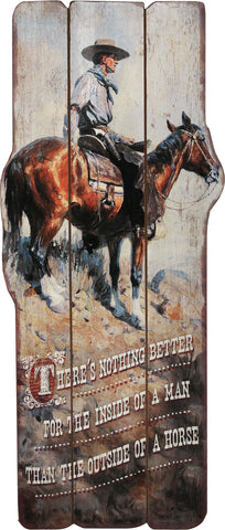 "(RE1967) Western Themed Wood Sign 34"" Tall"