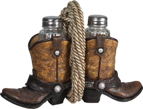(RE541) Cowboy Boot Salt & Pepper Shaker Set