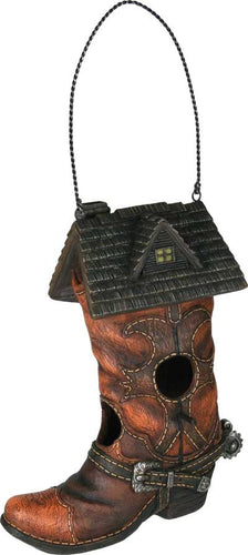 (RE635) Western Cowboy Boot Birdhouse