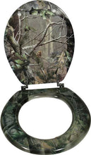 Load image into Gallery viewer, (RE744) Camouflage Wood Standard Toilet Seat
