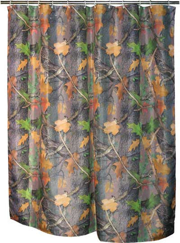 (RE761) Fall Transition Camo Shower Curtain