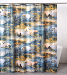 "(REFA2005) ""Cabin Retreat"" Shower Curtain"