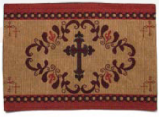 "(RK11037) ""Western Cross"" Jacquard Placemat"