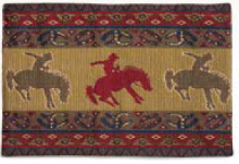 "(RK11044) ""Broncos"" Western Jacquard Placemat"