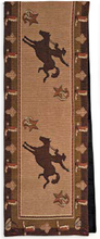 "Load image into Gallery viewer, (RK12027) ""Cowboy"" Western Jacquard Table Runner 13"" x 72"""